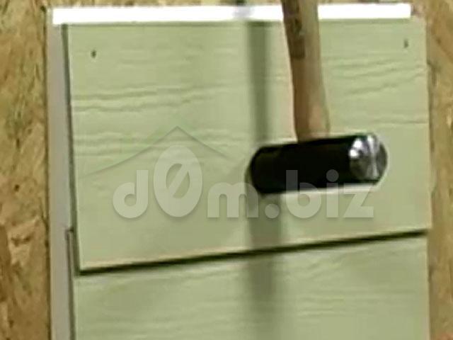 Вариант крепления панели при обшивке стены