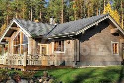 Традиционный финский деревянный дом из бруса