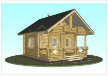 Обложка проекта сруба двухэтажного дома бани