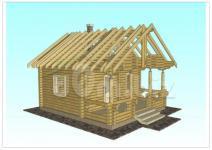 Обложка рабочего проекта для строительства дома бани с террасой
